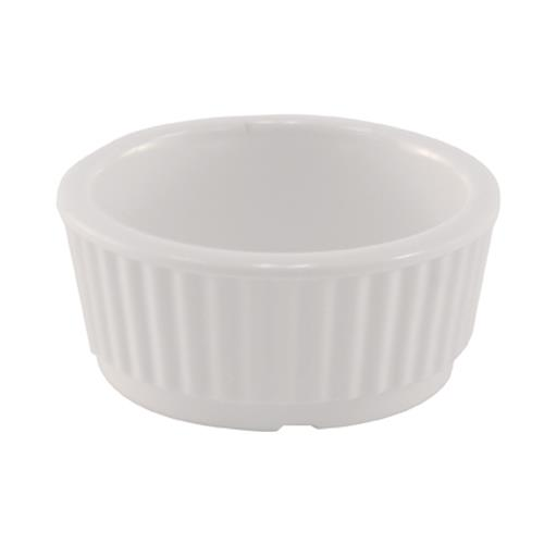 Adcraft - RAM-2 - 2 oz White Melamine Fluted Ramekin