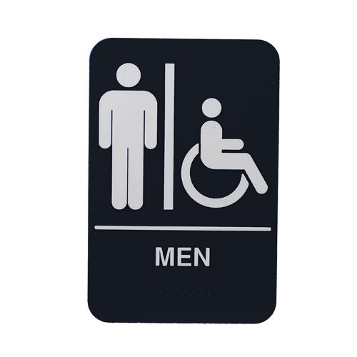 Commercial - 6 in x 9 in Men's Restroom Sign