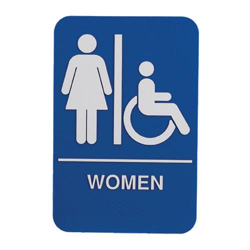 Update - S69B-1BL - 6 in x 9 in ADA Women's Restroom Sign