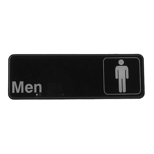 Winco - SGN-311 - 3 in x 9 in Men's Restroom Sign