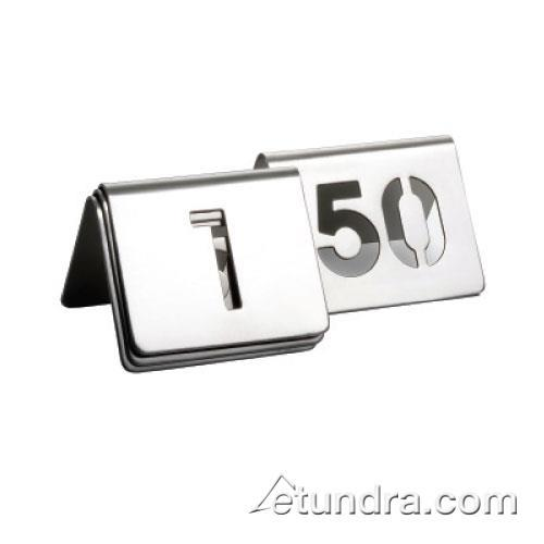 Tablecraft - TC150 - 1 - 50 Cut Out Numbered Stainless Steel Table Tents