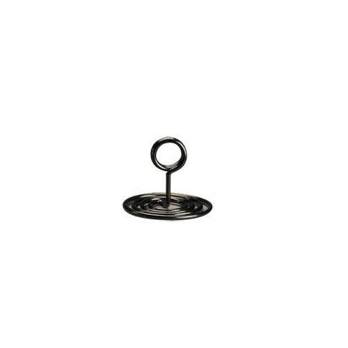 American Metalcraft - NSB1 - 1 1/2 in Swirl Base Black Number Stand