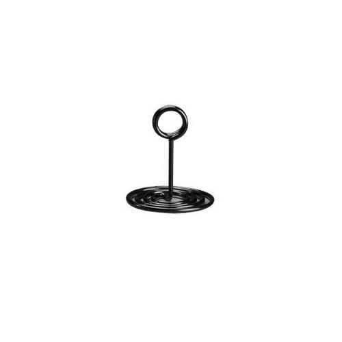 American Metalcraft - NSB4 - 4 in Swirl Base Black Number Stand