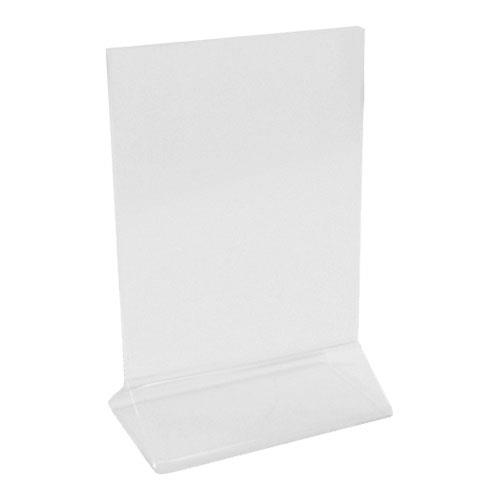 Update  - ACH-46 - 4 in x 6 in Clear Table Top Menu Holder