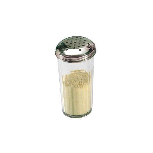American Metalcraft 3312 12 oz SAN Tapered Cheese Shaker w/Top for Restaurant Chef