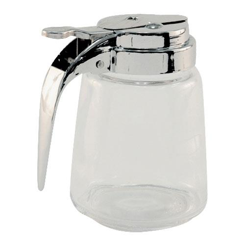 Tablecraft - 1370 - 8 oz Glass Syrup Dispenser