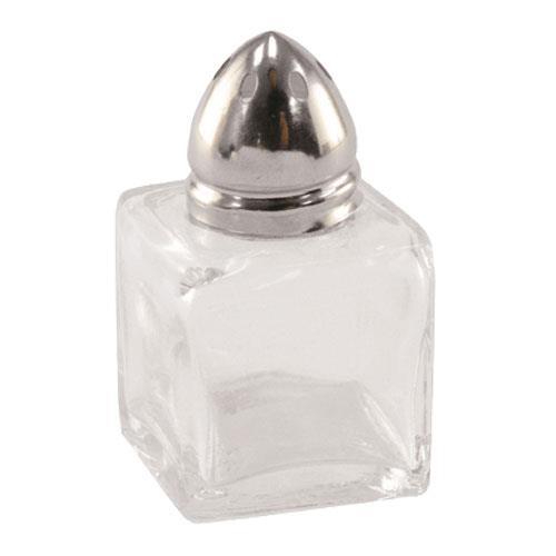 Update SK-CUC 1/2 oz Square Glass Salt & Pepper Shaker for Restaurant Chef