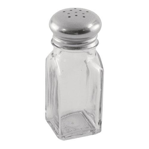 Update SK-SM 2 oz Square Glass Salt & Pepper Shaker for Restaurant Chef