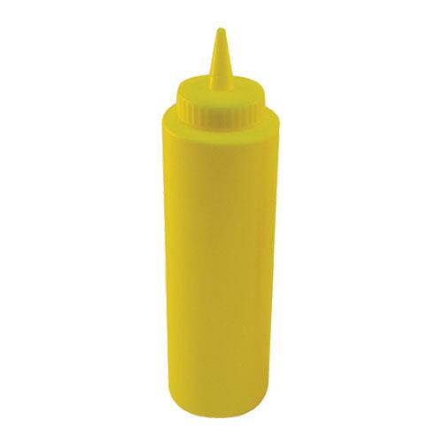 Winco - PSB-12Y - 12 oz Yellow Squeeze Bottle