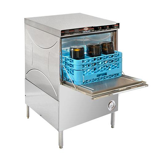 Undercounter Combination Dishwasher Glasswasher And Wine Bottle Washer Without Chemical Dispenser