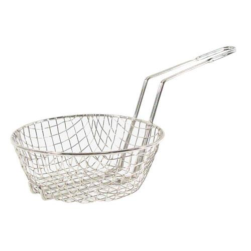 Update  - CUB-10C - 10 in Round Fryer Basket with Coarse Mesh