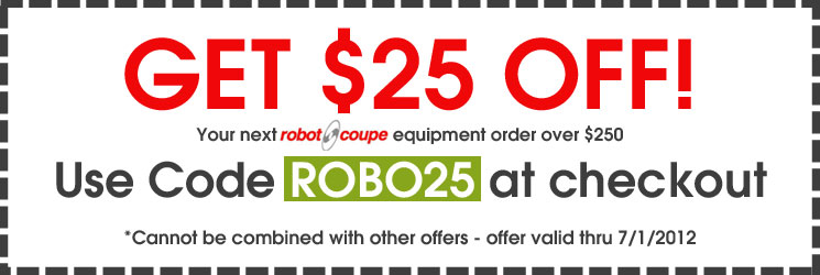 Robot Coupe - Get $25 OFF!