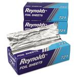 Reynolds Food Packaging - 17300721 - 12 in x 10 3/4 in Reynolds Wrap® Pop-Up Foil Sheets image