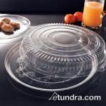"EMI Yoshi - EMI-280CP - 18"" Clear Round Deli Tray w/OPS Clear Lid image"