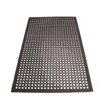Winco - RBM-35K - 3 ft x 5 ft x 1/2 in Black Floor Mat image