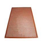 Winco - RBM-35R - 3 ft x 5 ft x 1/2 in Red Floor Mat image