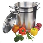 Winco - SSDB-16 - 16 qt Stainless Steel Double Boiler  image