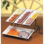Cal-Mil - 1406-15 - 2-Tier White Tray Stand image