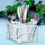 Cal-Mil - 587-49 - 4 Section Silver Flatware Holder image
