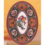 "Thunder Group - 2009TP - 9"" x 6 5/8"" Peacock Oval Platter image"