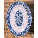 "Thunder Group - 2014DL - 14"" x 10"" Blue Dragon Oval Platter image"