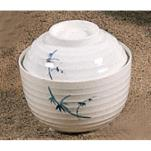Thunder Group - 3502BB - 9 oz. Blue Bamboo Miso Soup Bowl image