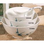 Thunder Group - 5206BB - 23 oz. Blue Bamboo Noodle Bowl image