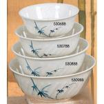 Thunder Group - 5309BB - 66 oz. Blue Bamboo Soba Bowl image
