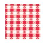 "Winco - TBCO-70R - 52"" x 70"" Red Check Tablecloth image"