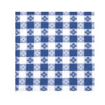 "Winco - TBCO-90B - 52"" x 90"" Blue Check Tablecloth image"