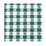 "Winco - TBCS-52G - 52"" x 52"" Green Check Tablecloth image"
