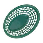GET Enterprises - OB-734-G - 7 3/4 in Green Oval Basket image