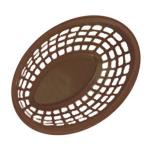 GET Enterprises - OB-938-BR - 9 1/2 in Brown Oval Basket image