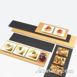 Cal-Mil - 1530-616-13 - 16 in x 6 in Black Serving Board image