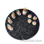 "Cal-Mil - SS230-1 - 23"" Round Black Serving Stone image"