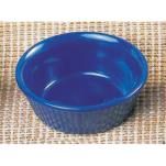 "Thunder Group - ML532CB - 3 3/8""- 4 oz. Cobalt Blue Fluted Ramekin  image"