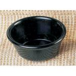 "Thunder Group - ML538BL - 3 3/8""- 4 oz. Black Smooth Ramekin   image"