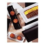 GET Enterprises II - ML-155-BK - Bake and Brew 14 in x 11 1/2 in Black Serving Tray image