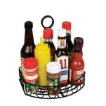Winco - WBKH-6SB - Straight Back Black Wire Condiment Holder image