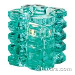 Hollowick - 5151AQ - Aqua Faceted Cube Votive Lamp image