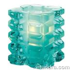 Hollowick - 5151AQSL - Aqua Satin Linen Faceted Cube Votive Lamp image