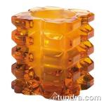 Hollowick - 5151ASL - Amber Satin Linen Faceted Cube Votive Lamp image