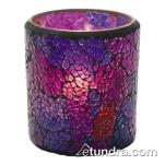 Hollowick - 6351BP - Crackle Blue & Purple Frosted Votive Lamp image