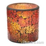 Hollowick - 6351RG - Crackle Red & Gold Frosted Votive Lamp image