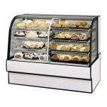"Federal - CGR5042DZ - Curved Glass 50"" x 42"" Dual Zone Left/Right Bakery Case image"