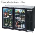 "Beverage Air - BB48GY-1-B-27 - 48"" Glass Door Back Bar Cooler w/ Stainless Steel Top image"