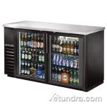 "True - TBB-24-60G - 61"" Back Bar Cooler w/ 2 Glass Doors image"