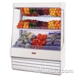 "Howard McCray - SC-OP30E-6-LS - 75"" x 72"" White Produce Merchandiser image"