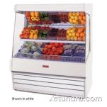 "Howard McCray - SC-OP30E-8L-LS-B - 99"" x 60"" Black Produce Merchandiser image"