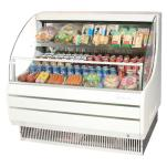 "Turbo Air - TOM-50LW - White 51"" Low Profile Open Display Merchandiser image"